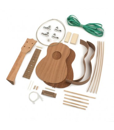 Sopraan ukulele bouwpakket Mahonie