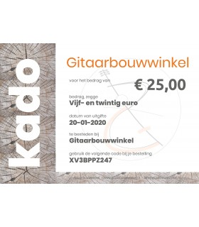 Gift certificate €25,-