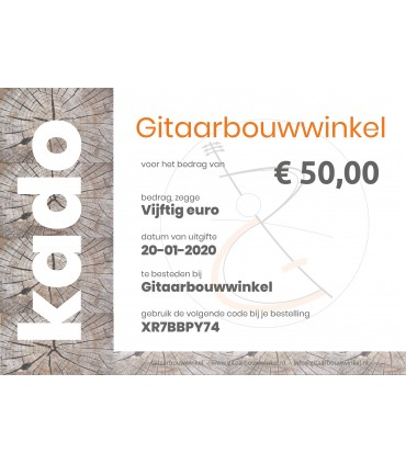 Gift certificate €50,- by email